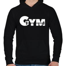 PRINTFASHION GYM - Férfi kapucnis pulóver - Fekete