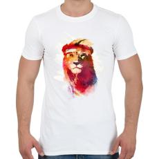 PRINTFASHION Gym lion - Férfi póló - Fehér