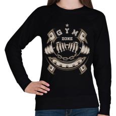 PRINTFASHION GYM ZONE - Női pulóver - Fekete