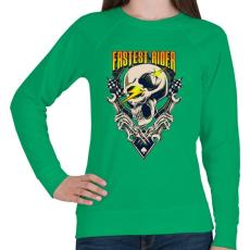 PRINTFASHION Gyors sofőr - Női pulóver - Zöld