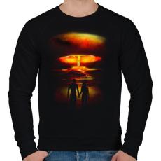 PRINTFASHION Háború és szerelem - Férfi pulóver - Fekete