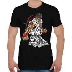 PRINTFASHION Hadouken - Férfi póló - Fekete