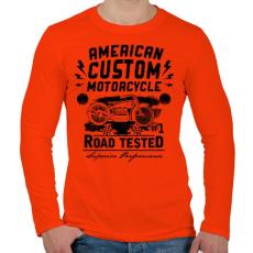 PRINTFASHION Hagyományos amerikai motor - Férfi hosszú ujjú póló - Narancs