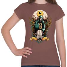 PRINTFASHION Halál szeme - Női póló - Mogyoróbarna női póló
