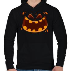 PRINTFASHION halloween head - Férfi kapucnis pulóver - Fekete