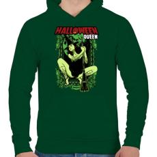 PRINTFASHION Halloween királynő - Férfi kapucnis pulóver - Sötétzöld