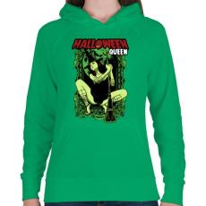 PRINTFASHION Halloween királynő - Női kapucnis pulóver - Zöld
