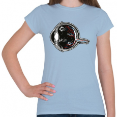 PRINTFASHION Halszem - Női póló - Világoskék