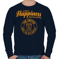 PRINTFASHION Happiness - Férfi pulóver - Sötétkék