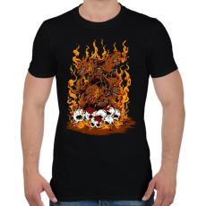 PRINTFASHION Harag - Férfi póló - Fekete