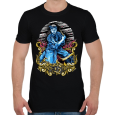 PRINTFASHION Harcos - Férfi póló - Fekete