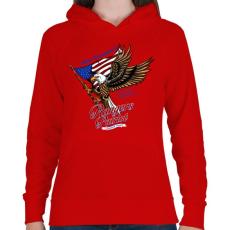 PRINTFASHION Hazafi - Női kapucnis pulóver - Piros