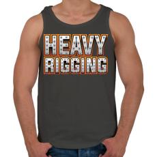 PRINTFASHION Heavy Rigging felirat - Férfi atléta - Sötétszürke