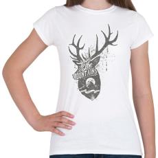 PRINTFASHION Hegyekben - Női póló - Fehér