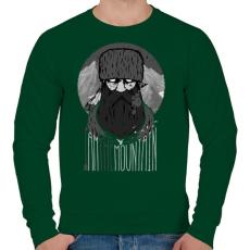 PRINTFASHION Hegyi ember - Férfi pulóver - Sötétzöld