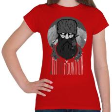 PRINTFASHION Hegyi ember - Női póló - Piros