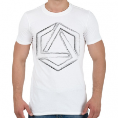 PRINTFASHION Hexagonal 4 - Férfi póló - Fehér