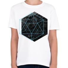 PRINTFASHION Hexagonal - Gyerek póló - Fehér