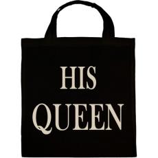 PRINTFASHION His Queen - Vászontáska - Fekete