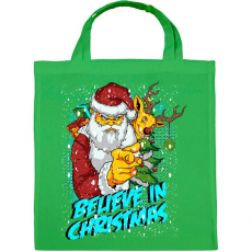 PRINTFASHION Hiszek a Karácsonyban - Vászontáska - Zöld