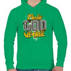 PRINTFASHION Hit - Férfi kapucnis pulóver - Zöld