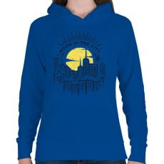 PRINTFASHION Holdfény  - Női kapucnis pulóver - Királykék