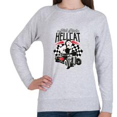 PRINTFASHION hot Rod Hellcat - Női pulóver - Sport szürke