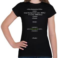 PRINTFASHION HTML - Női póló - Fekete