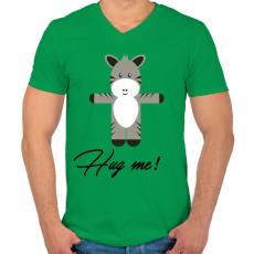 PRINTFASHION Hug me! - Férfi V-nyakú póló - Zöld
