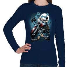 PRINTFASHION Hullavadász - Női hosszú ujjú póló - Sötétkék