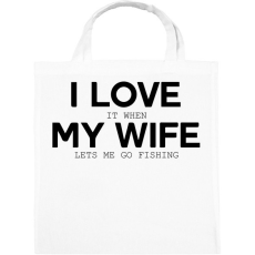 PRINTFASHION I love my wife. - Vászontáska - Fehér