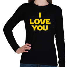 PRINTFASHION I LOVE YOU - Női hosszú ujjú póló - Fekete