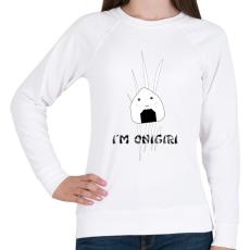 PRINTFASHION I'm Onigiri - Női pulóver - Fehér