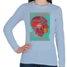 PRINTFASHION Ideg - Női hosszú ujjú póló - Világoskék