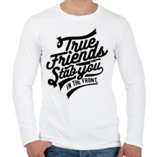 PRINTFASHION Igaz barát - Férfi hosszú ujjú póló - Fehér