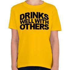 PRINTFASHION Ivászat - Gyerek póló - Sárga