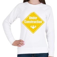 PRINTFASHION Izomépítés folyamatban - Női pulóver - Fehér