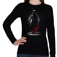 PRINTFASHION Jack - Női hosszú ujjú póló - Fekete