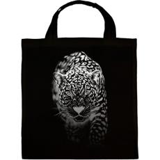 PRINTFASHION Jaguár - fehér - Vászontáska - Fekete