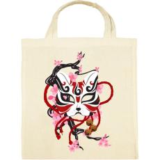 PRINTFASHION Japán maszk - Vászontáska - Natúr
