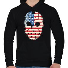 PRINTFASHION Jason maszk - Férfi kapucnis pulóver - Fekete