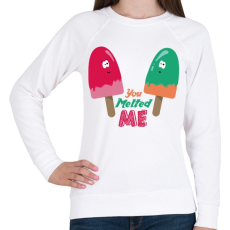 PRINTFASHION Jégkrémek - Női pulóver - Fehér