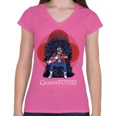 PRINTFASHION Jövő játéka - Női V-nyakú póló - Rózsaszín