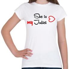 PRINTFASHION Júlia - Női póló - Fehér