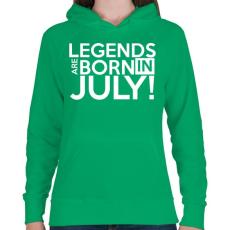PRINTFASHION Július - Női kapucnis pulóver - Zöld
