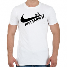 PRINTFASHION Just farm it - Férfi póló - Fehér
