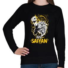 PRINTFASHION Just Saiyan - Női pulóver - Fekete