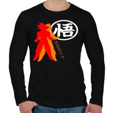 PRINTFASHION Kakarotto - Férfi hosszú ujjú póló - Fekete