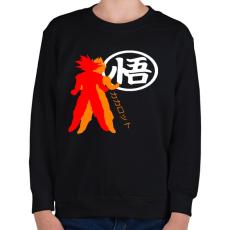 PRINTFASHION Kakarotto - Gyerek pulóver - Fekete