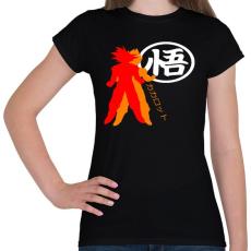 PRINTFASHION Kakarotto - Női póló - Fekete